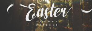 Easter banner for website page